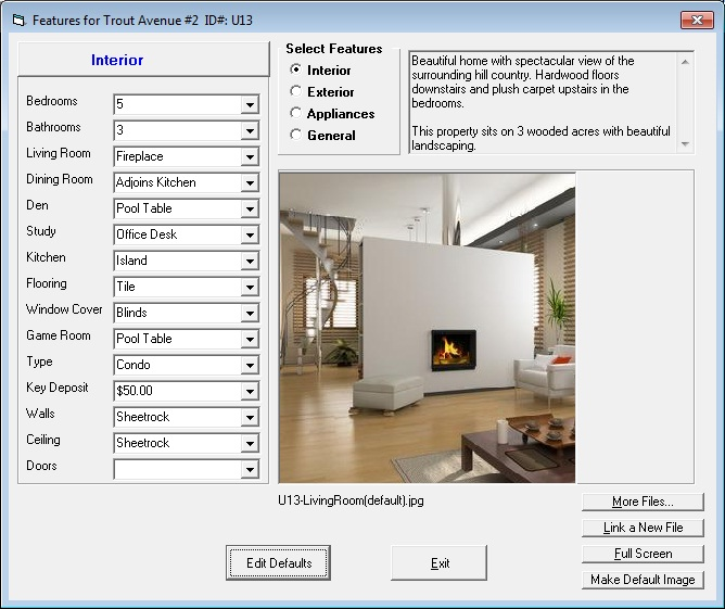 Tenant File Features